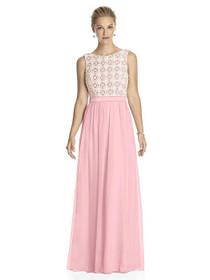 d96ae4e1954 Lela Rose Dress Style LR182 - Rose - Pantone Rose Quartz Ivory - Crinkle  Chiffon