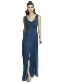 7a905b8fad21 Alfred Sung Dress Style D740 - Sofia Blue - Chiffon Knit - In Stock Dress