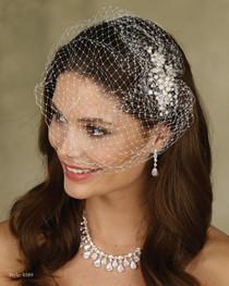 04d1dd6f920cf Marionat Bridal LeCrystal Accessory 4589 - Birdcage Veil