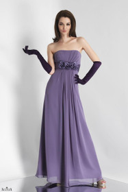 27281dbe7a50 Alexia Designs Floor Length - Dress -160L - Chiffon with floral one ...