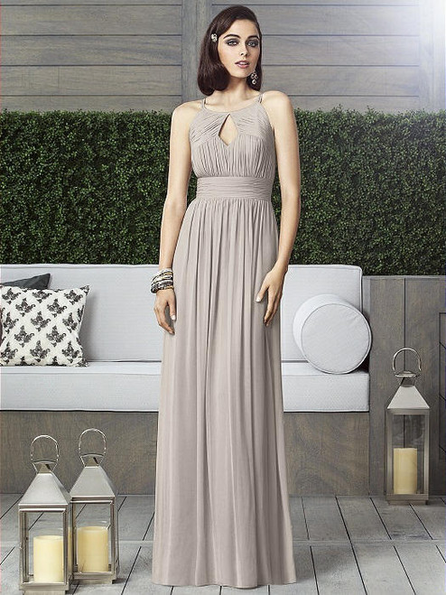 Dessy Collection Style 2906 - Taupe Color - Lux Chiffon - In Stock Dress