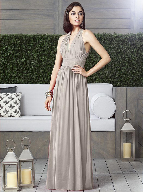 Dessy Collection Style 2908 - Taupe Color - Lux Chiffon - In Stock Dress