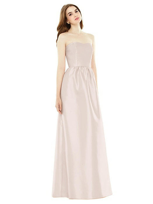 d3fff27154e Quick Ship Alfred Sung Dress Style D724 - Blush - Sateen Twill - In ...
