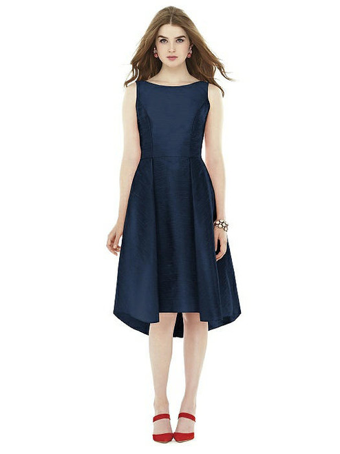 Alfred Sung Dress Style D708 - Midnight - Dupioni - In Stock Dress