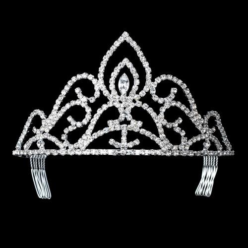 Crystal Rhinestone Pageant Crowns Tiaras, HP 285