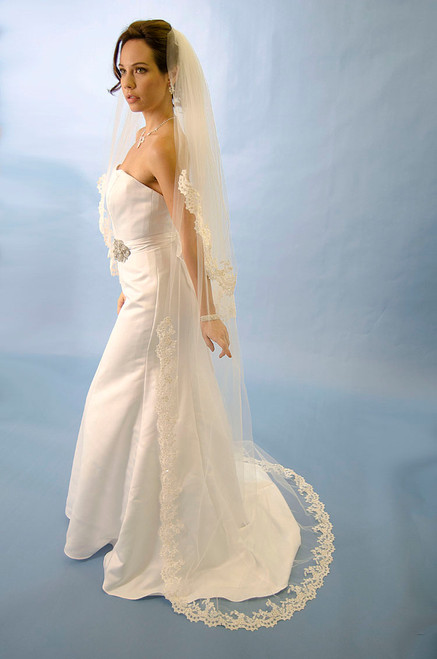 """Ansonia Bridal Veil Style 200C- Cathedral Length - 120"""" Inches Long"""