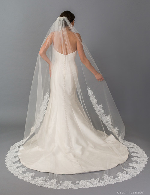 67c404531f Bel Aire Bridal Veils V7404C - 1-tier cathedral veil with re ...