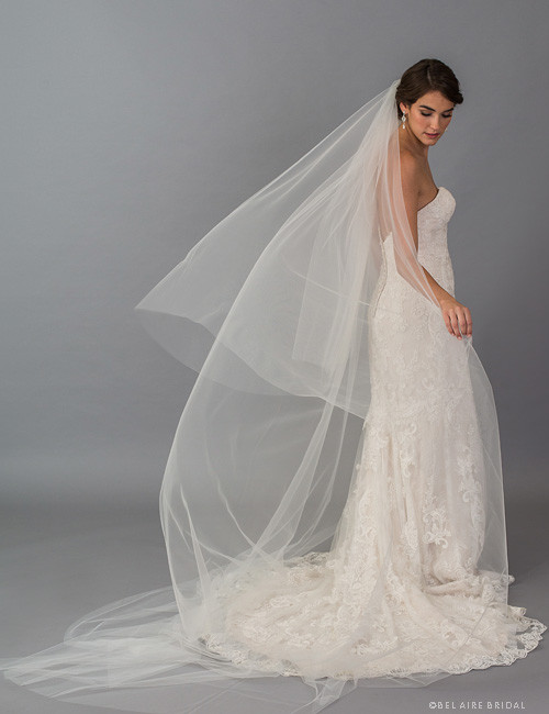 f2504d4577 Bel Aire Bridal Veils V7407C - 2-tier foldover veil in soft luxe tulle