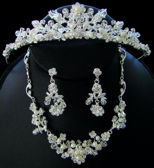 Couture Crystal Matching Jewelry & Tiara Set NE 7224 & HP 7052