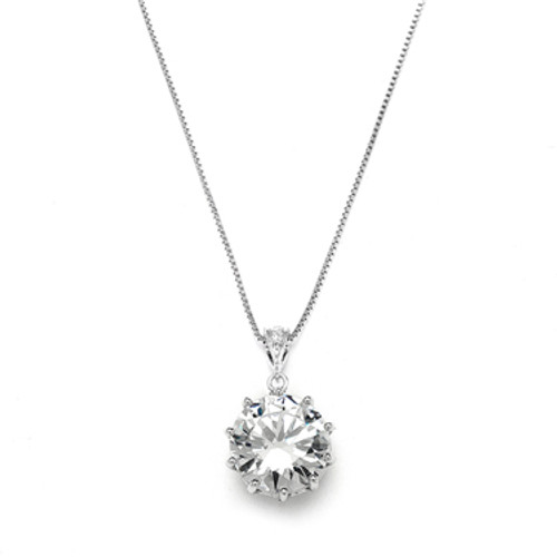 Mariells Bridal, Prom or Bridesmaids Bling CZ Necklace Pendant 4083N