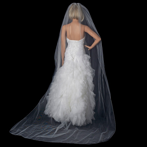 Single Layer Pencil Edge Cathedral Length Veil Style VP 1C