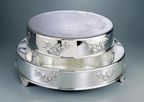 """Round Classic Wedding Cake Tableau Stand 14"""" & 18"""" (Style CT-5575 & CT-5576)"""