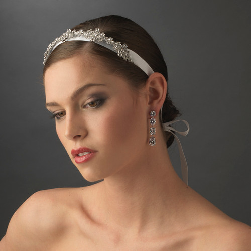 Ribbon Vintage Crystal Bridal Headpiece HP 8286