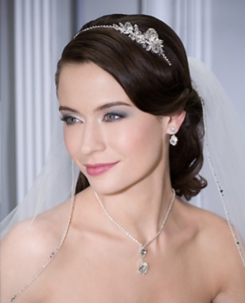 Bel Aire Bridal Wedding Veil V7035C - Cathedral Wedding Veil  - Bugle Beads and Rhinestones