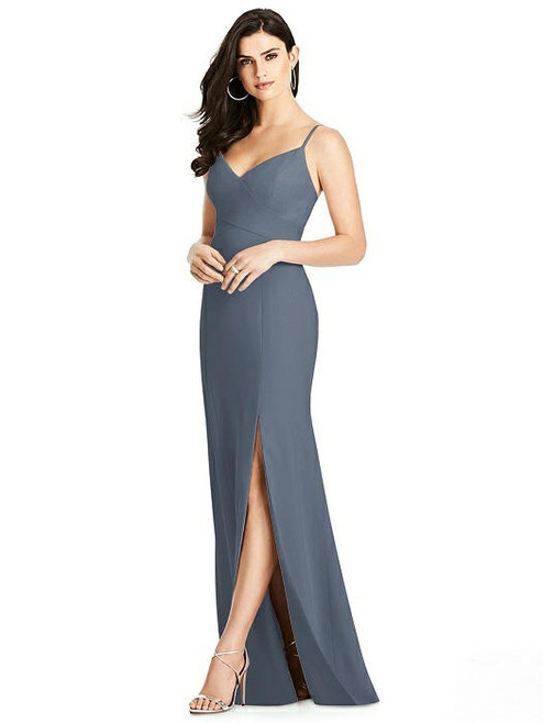 Dessy Bridesmaids Dress Style 3013 - Silverstone - Crepe - In Stock Dress