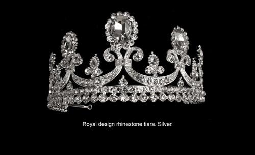Noelle & Ava - Royal Rhinestone Tiara. Silver