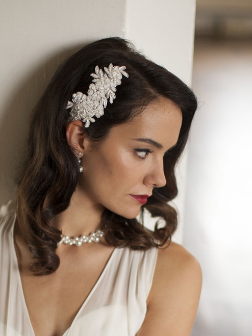Elegant Ivory Lace Applique Ivory Wedding Comb