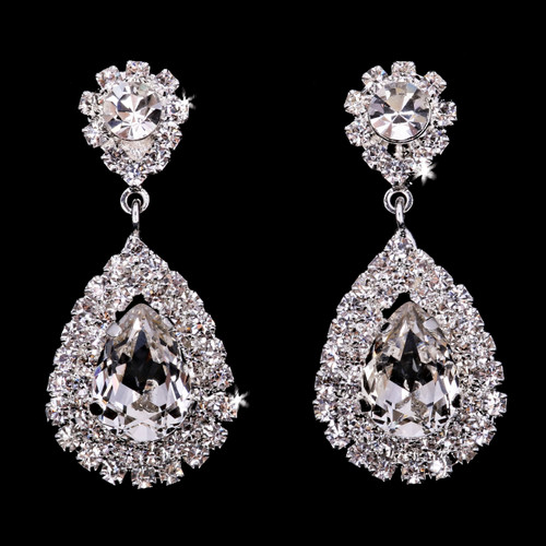 En Vogue Bridal Style E1966 - Rhinestone Earrings