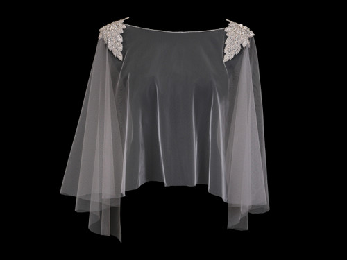 En Vogue Bridal Capelet CP1921 - Beaded design