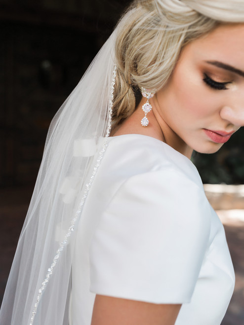 En Vogue Bridal Style V1993SF - English tulle veil - Single Tier