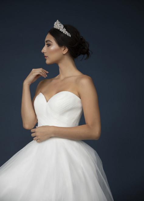 Elena Designs Headpiece E941 - Encrusted rhinestone & crystal tiara