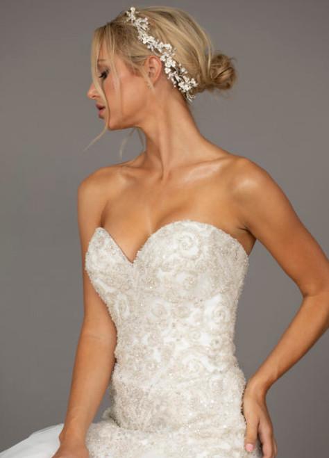 Ansonia Bridal Headpiece HP8834 - Floral rhinestone Vine headband