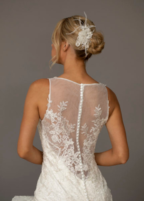 Ansonia Bridal Comb HP8846 - Lace feather comb