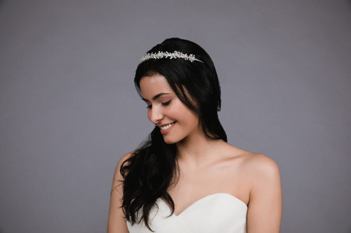 Ansonia Headpiece HP8810 - Pearl headband with rhinestones and pearls