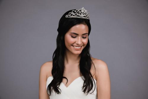 Ansonia Headpiece HP8821 - Rhinestone tiara