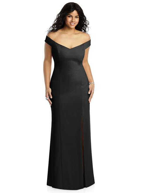 DeDessy Bridesmaids Dress Style 3012 - Black - Crepe - In Stock Dress - Size 14 Only