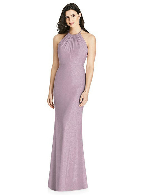 Dessy Shimmer Bridesmaid Dress 3022LS - Lux Shimmer