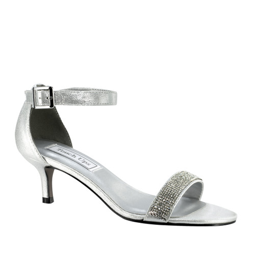 Touch Ups Isadora Silver Low Heel- 4334