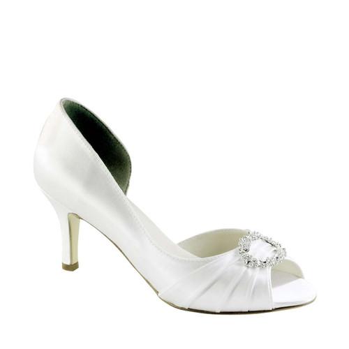 Touch Ups Ivanna White Satin Heel - 318