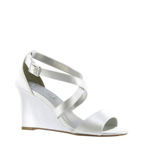 Dyeable Touch Ups Jenna White Wedge - 4178