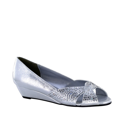 Touch Ups Alice Silver Low Wedge - 4066
