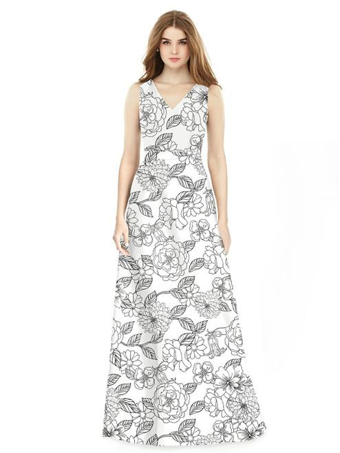 Alfred Sung Bridesmaid Dress D754FP - Sateen Twill - Botanica
