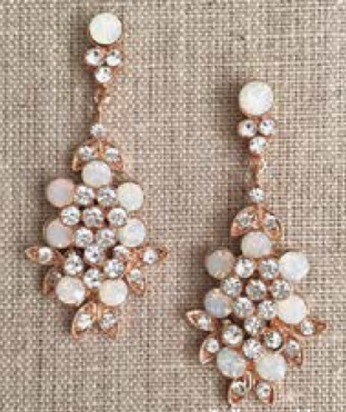 Bel Aire Bridal Earrings EA266 - Rhinestone drop earrings