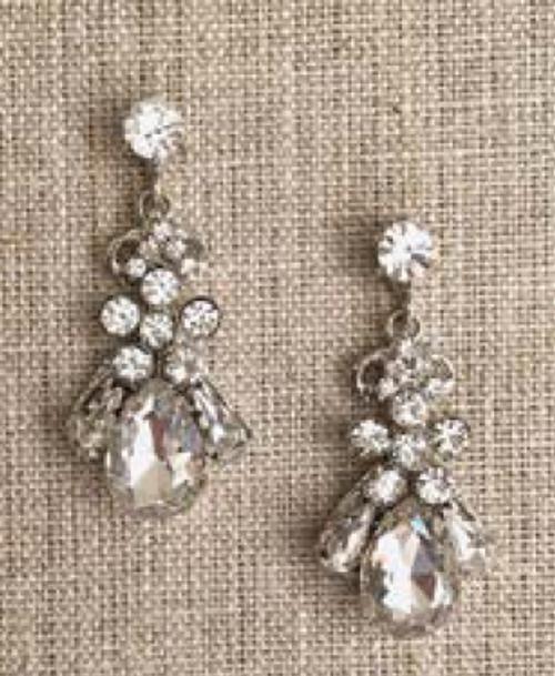 Bel Aire Bridal Earrings EA267 - Rhinestone drop earrings
