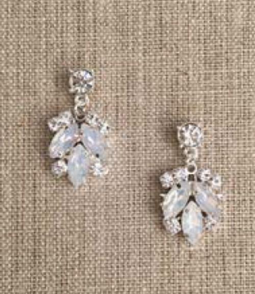 Bel Aire Bridal Earrings EA269 - Rhinestone drop earrings