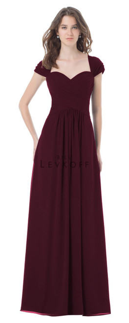 Bill Levkoff Bridesmaid Dress Style 496 - Quick Ship - Wine Size 16