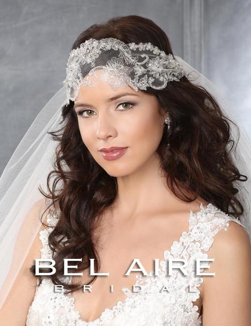 Bel Aire Bridal Accessory Headwrap or Sash 6434 - Organza Ties
