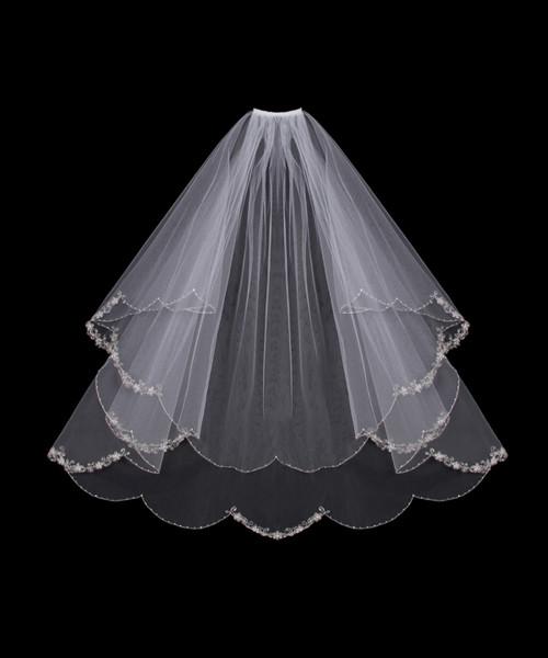 En Vogue Bridal Accessories, En Vogue Wedding Veils, wedding accessories, bridal accessories,En Vogue Bridal Style V500W - Circle Cut Wedding Veil