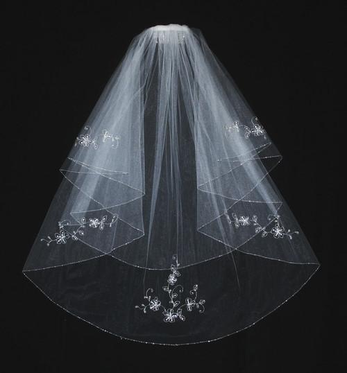 En Vogue Bridal Veil - Style V351F - Circle Cut