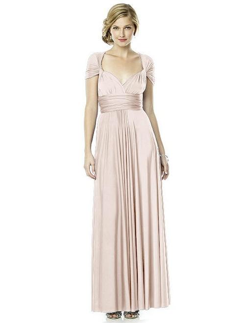 Maracaine Jersey Twist Wrap Dress Long by Dessy