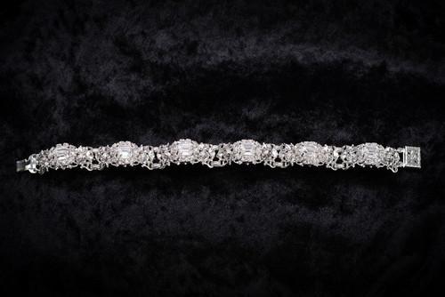 Erica Koesler Bracelet J-9359 - Emerald Shaped Rhinestones