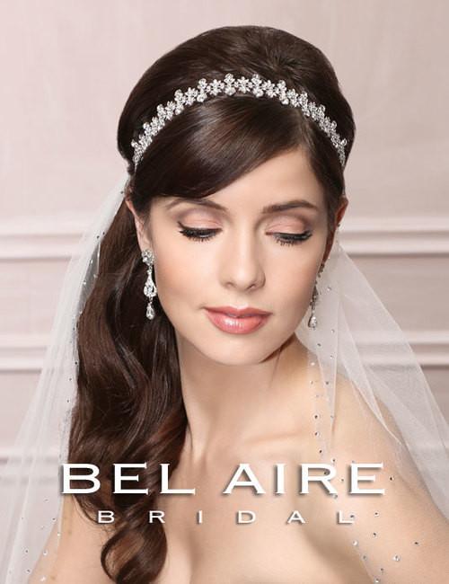 Bel Aire Bridal  Headpiece 6488 - Flexible Rhinestone Band