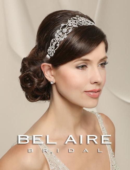 Bel Aire Bridal Headpiece 6518- Sparkling Rhinestone Linked Headband ... f5655a759f4