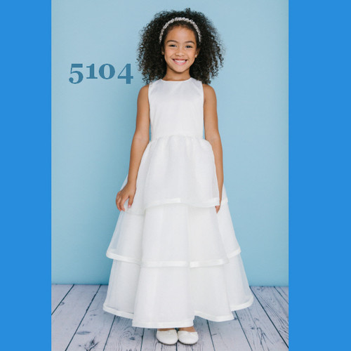 Rosebud Fashions Flower Girl Dresses Style 5104 - Satin and Organza
