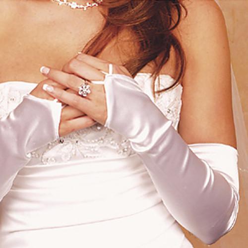 Satin Fingerless Opera Gloves GL-212V-16S