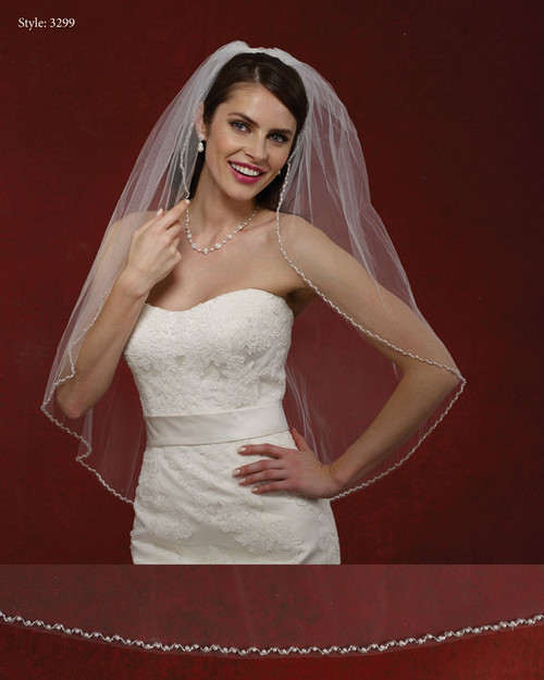 Marionat Bridal Veils 3299- The Bridal Veil Company - Pearl Beaded Edge